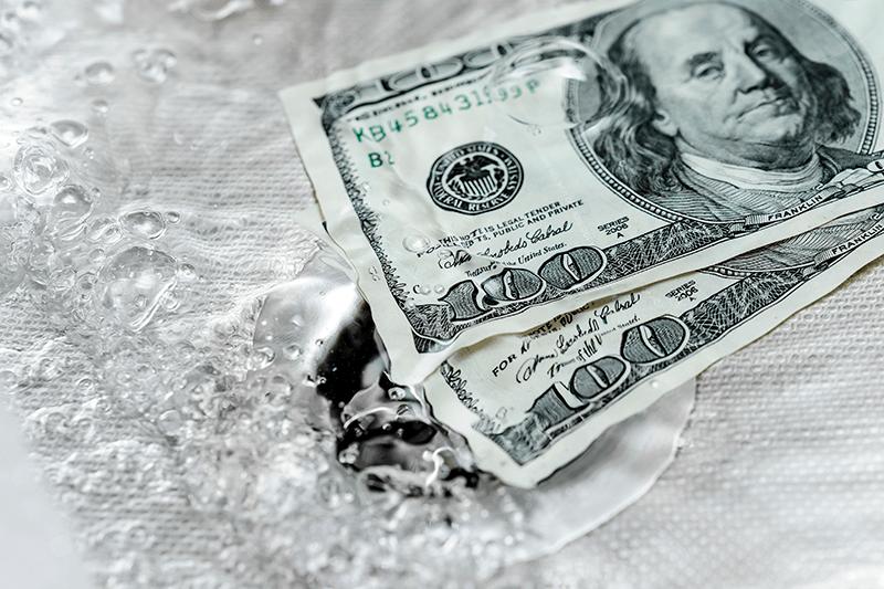 Money in Sink Drain